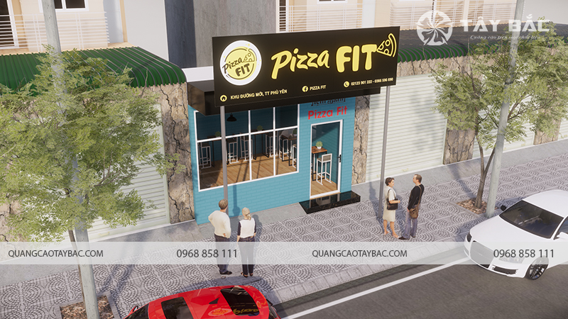 Biển quảng cáo hiệu bánh Pizza Fit