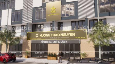 Phối cảnh mặt tiền biển hiệu spa Hương Thảo Nguyên
