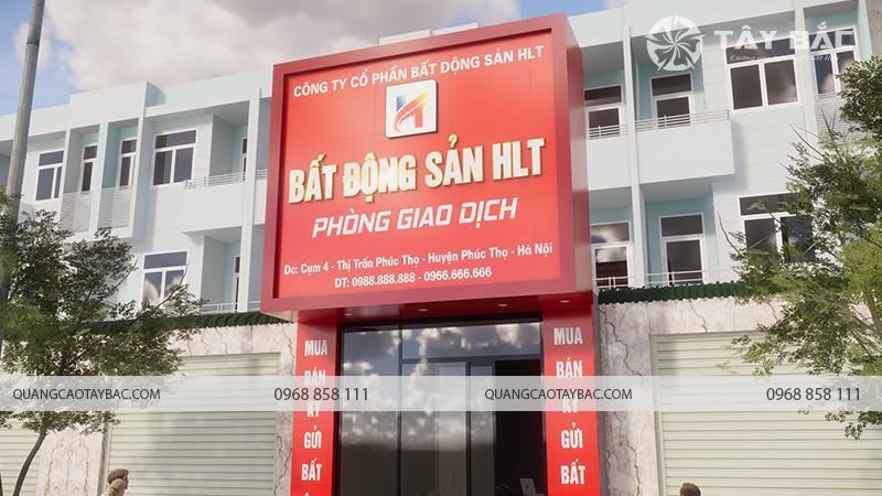 Biển quảng cáo bất động sản HLT