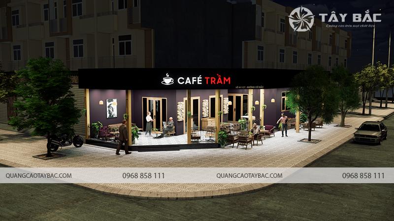 biển quảng cáo cafe Trầm