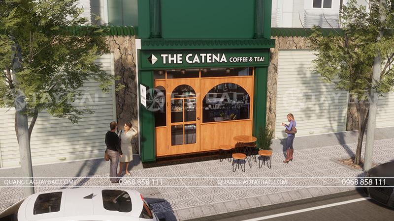 Phối cảnh thiết kế biển coffee Catena