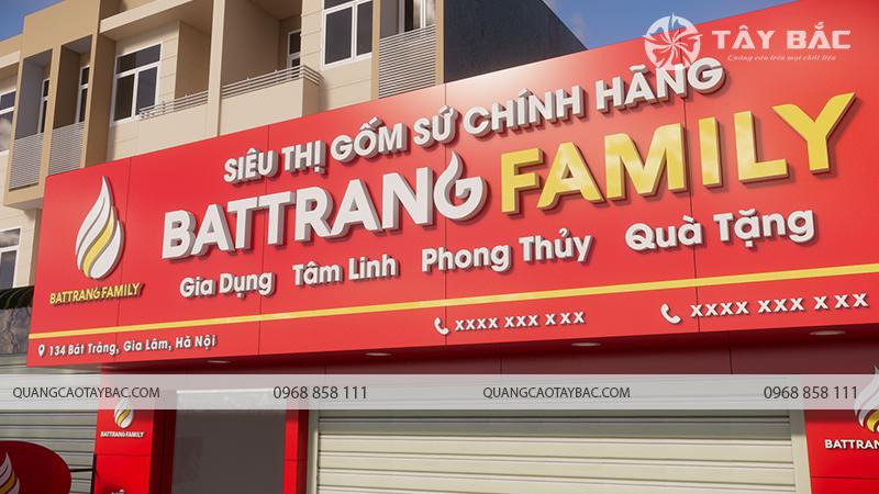 Chi tiết bộ chữ sử dụng trong biển quảng cáo cửa hàng gốm sứ