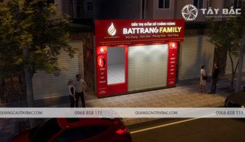 Phối cảnh biển quảng cáo cửa hàng gốm sứ Bát Trang Family