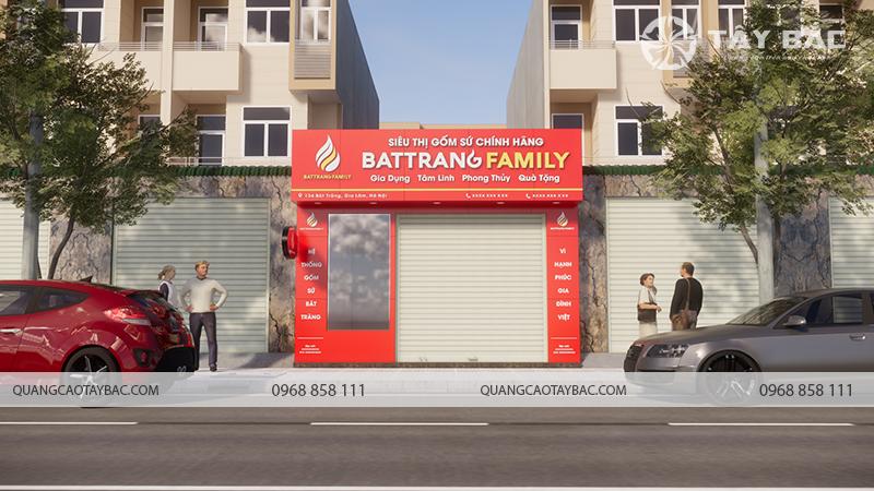 Mặt tiền biển quảng cáo cửa hàng gốm sứ Bát Tràng
