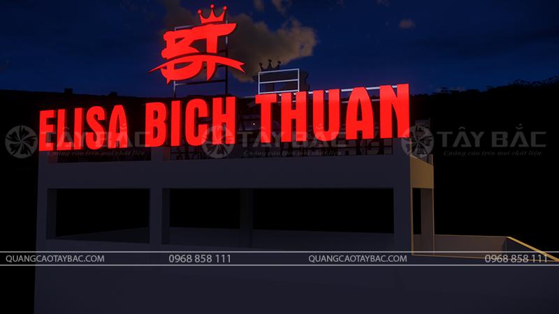Bộ chữ biển hiệu ảnh viện Elisa Bích Thuận