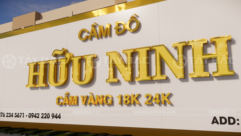 Biển hiệu cầm đồ Hữu Ninh