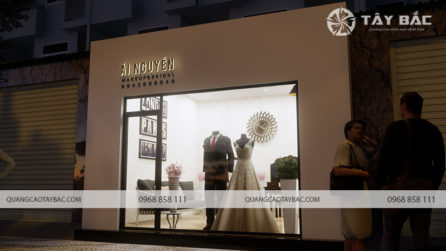 Mẫu biển quảng cáo trang điểm cô dâu Ái Nguyễn