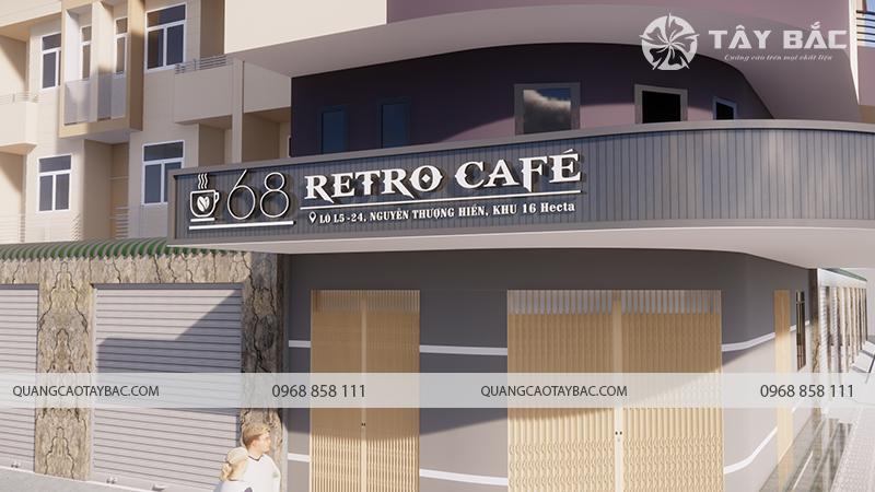 Phối cảnh cửa hàng cafe retro 68