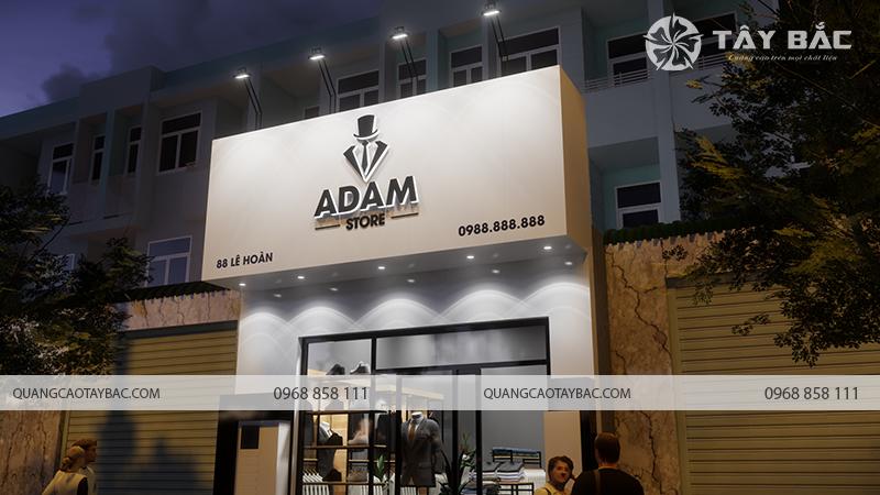 Biển quảng cáo shop thời trang adam store