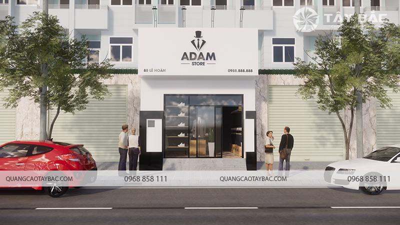 Biển quảng cáo thời trang Adam Store