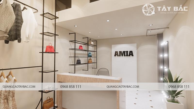 Nội thất cửa hàng shop quần áo Amia