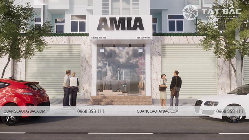 Phối cảnh ban ngày mặt tiền biển Amia
