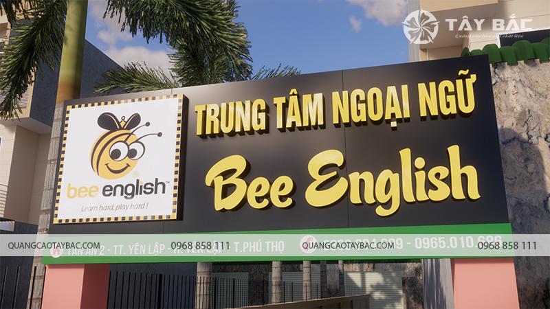 Biển quảng cáo trung tâm anh ngữ Bee