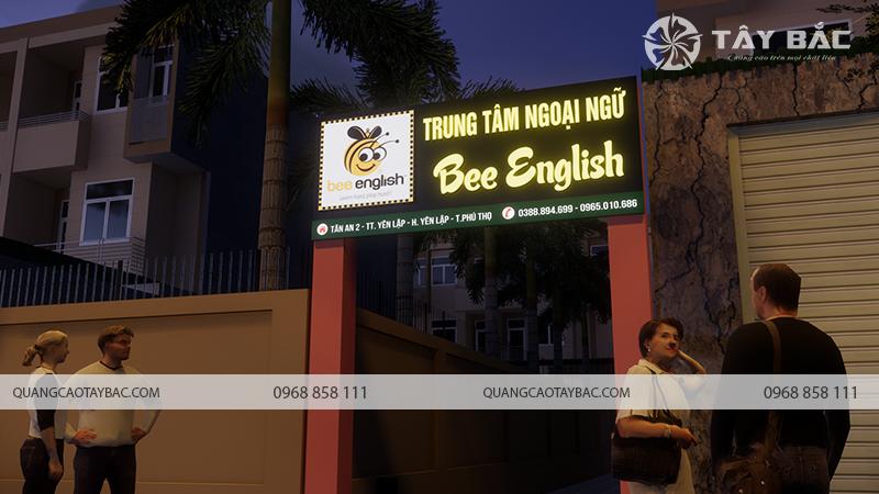 Phối cảnh buổi tối trung tâm anh ngữ Bee