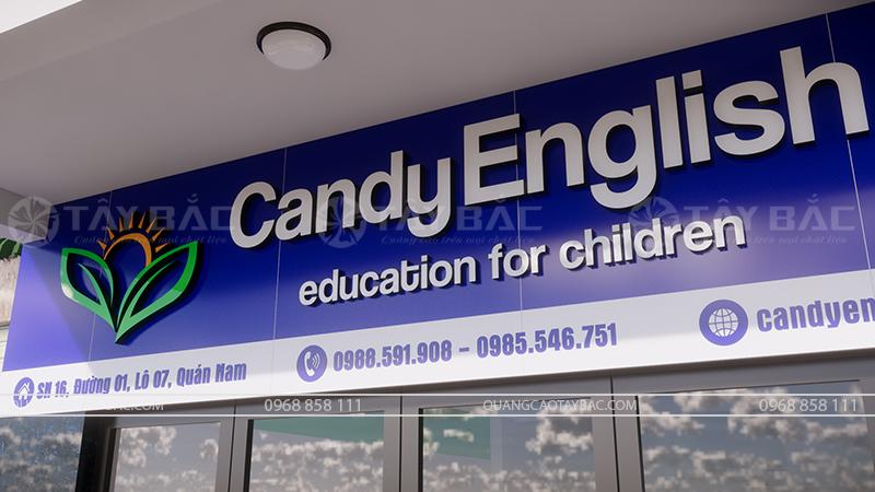 Phối cảnh mặt tiền biển trung tâm tiếng anh Candy