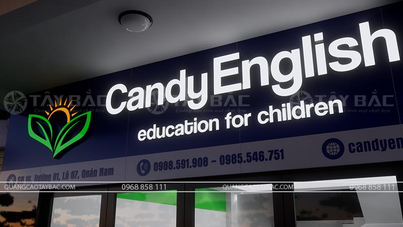 bộ chữ sử dụng trên biển trung tâm Candy
