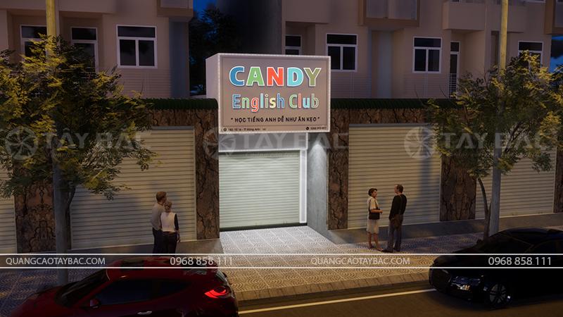 Biển quảng cáo trung tâm tiếng anh Candy Club