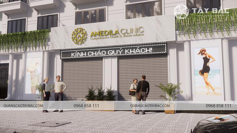Biển quảng cáo thẫm mỹ viện Amedila