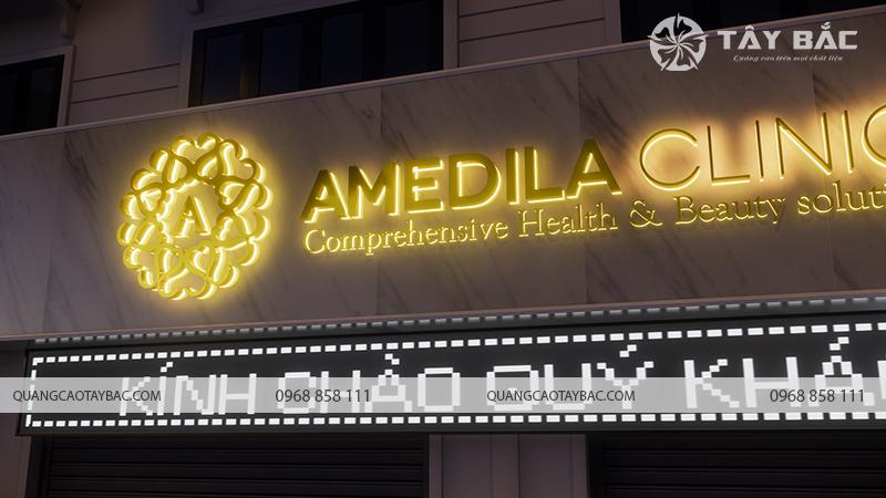 Phối cảnh buổi tối viện thẫm mỹ Amedila