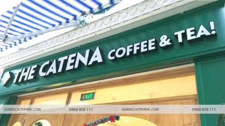 Thi công biển quảng cáo catena coffee