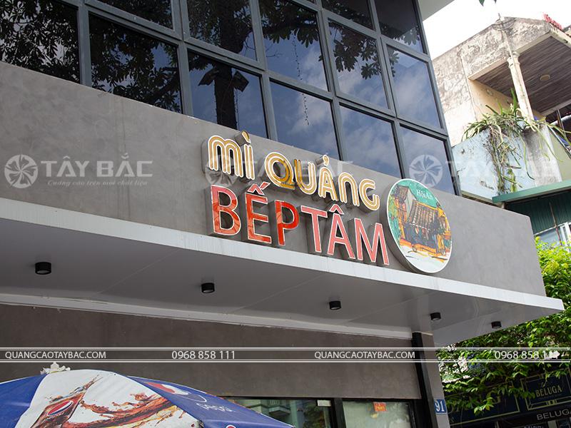Biển quảng cáo nhà hàng Bếp Tâm