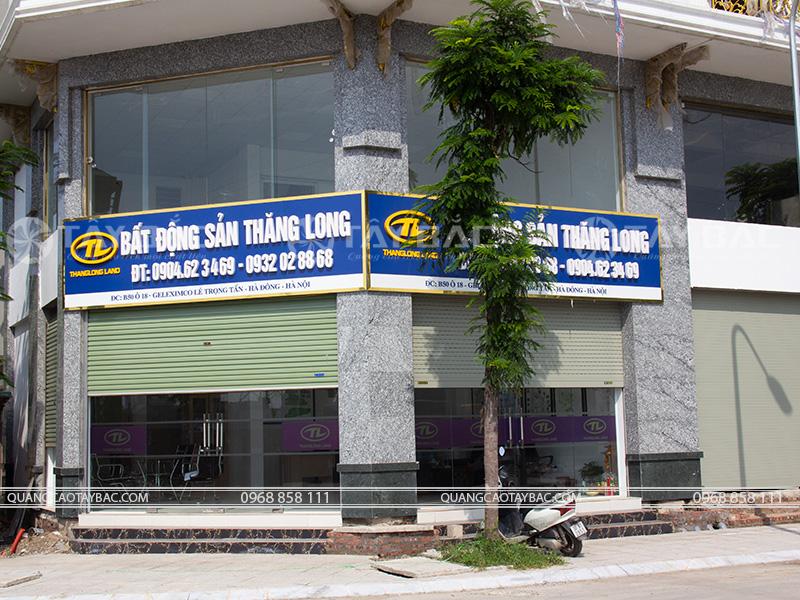 Biển quảng cáo bất động sản Thăng Long