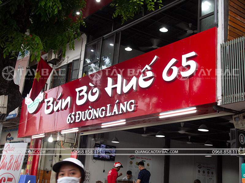 Biển quảng cáo bún bò Huế 65