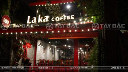 Biển quảng cáo coffee Laka