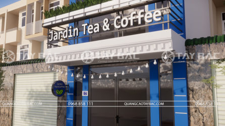 Biển quảng cáp coffee & tea Jardin