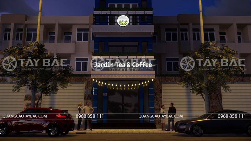 Phối cảnh buổi tối coffee Jardin