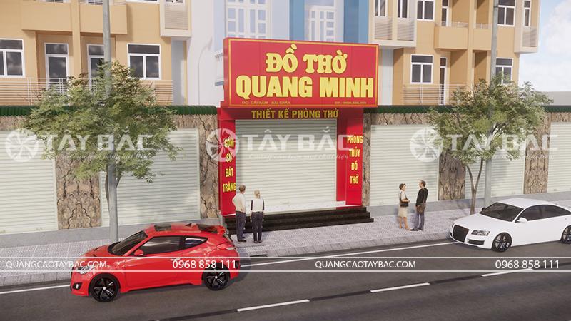 Phối cảnh một góc chụp khác biển đồ thờ Quang Minh