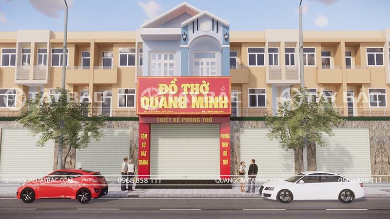 Biển quảng cáo đồ thờ Quang Minh