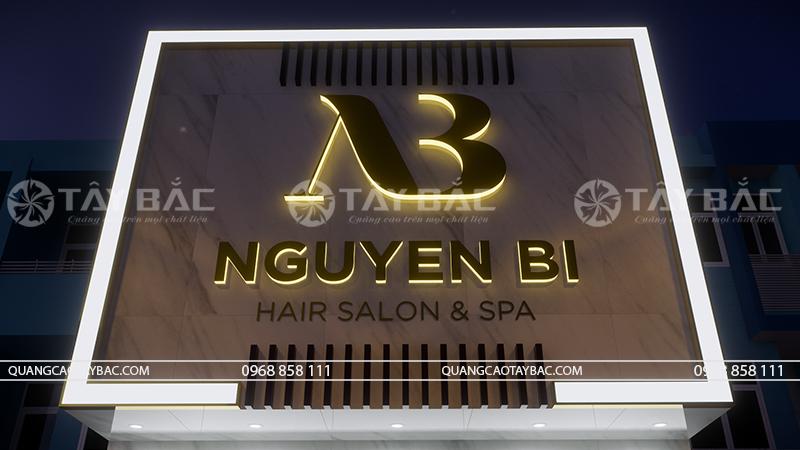 Góc chụp cận bộ chữ salon Nguyễn Bi