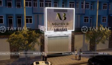 Phối cảnh buổi tối salon tóc Nguyễn Bi
