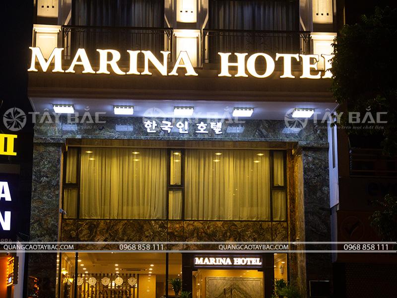 Biển quảng cáo khách sạn Marina