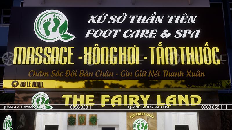 Phối cảnh buổi tối biển massage Fairy Land