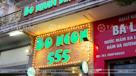 Biển quảng cáo nhà hàng Bò Nhúng Dấm