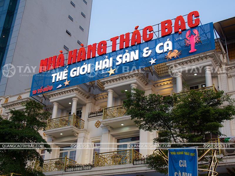 Biển quảng cáo nhà hàng Thác Bạc