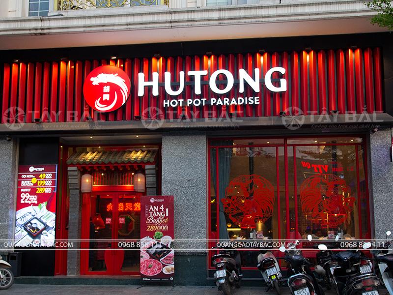 Biển quảng cáo nhà hàng Hutong