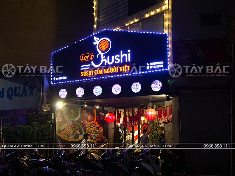 Biển quảng cáo nhà hàng shushi