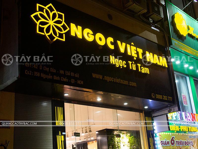 Biển quảng cáo cửa hàng phong thủy Ngọc Việt Nam