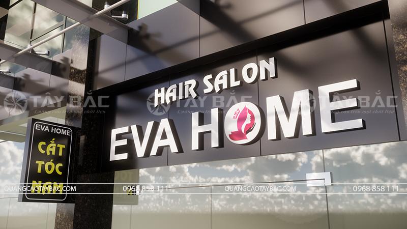 Biển quảng cáo salon tóc Eva Home