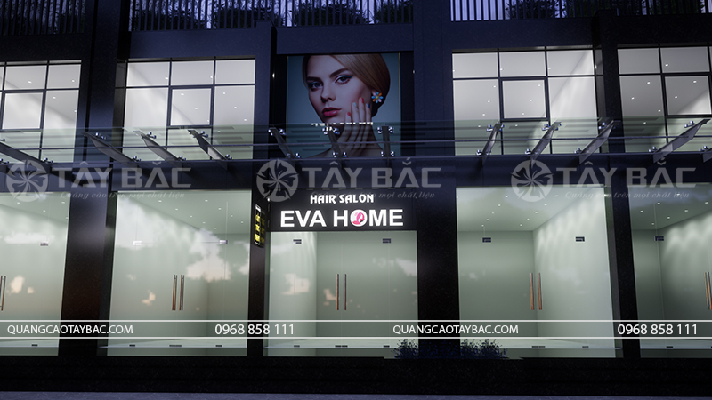 Phối cảnh biển salon tóc Eva Home