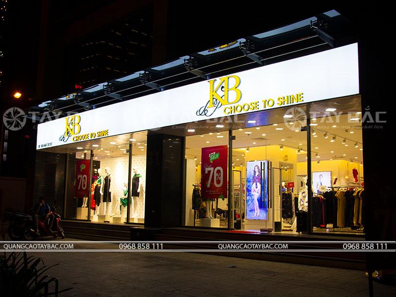 Biển quảng cáo shop thời trang KB Fashion