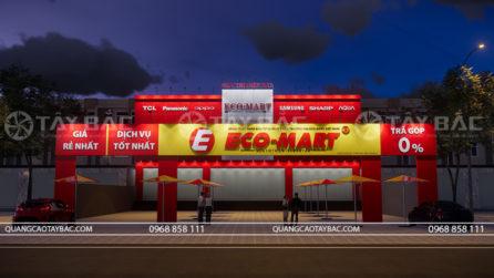 Phối cảnh buổi tối siêu thị điện máy Eco Mart