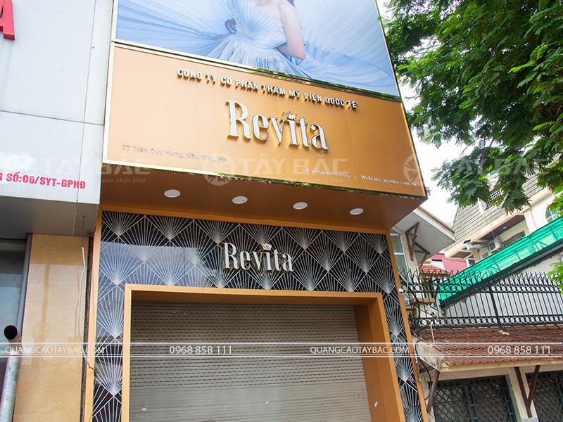 Biển quảng cáo thẫm mỹ viện Revita
