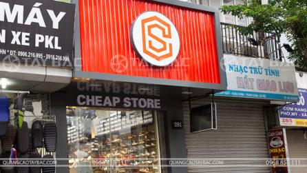 Biển quảng cáo thời trang Cheap Store