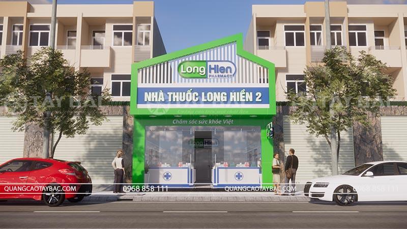 Biển quảng cáo nhà thuốc Long hiền