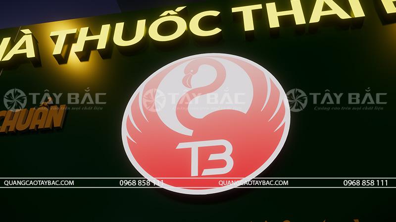 Phối cảnh buổi tối biển hiệu nhà thuốc Thái Bình