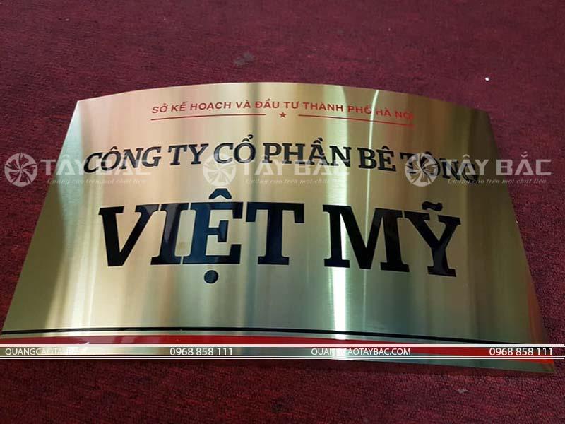 Biển công ty Việt Mỹ
